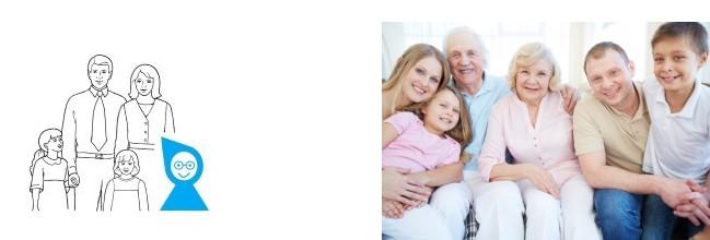 Accueil en famille d'une personne âgée